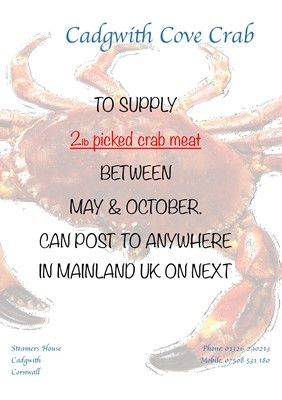 Lot 96 - 2lb picked crab meat