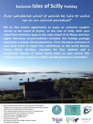 Lot 83 - An Exclusive Isles of Scilly Holiday Return...