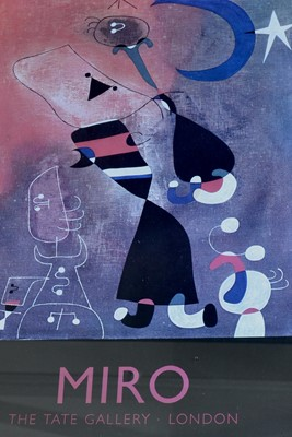 Lot 35 - MIRO Unnamed Tate Gallery Poster 55 x 43cm P&P...