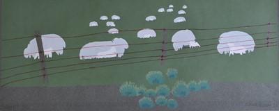 Lot 38 - Frank Farmer Sheep? Screenprint 6/20 1978 23 x...