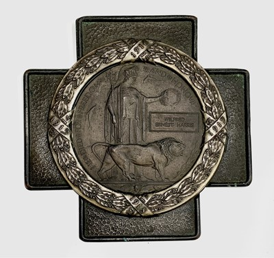 Lot 202 - World War 1 Death Plaque Contained in an...
