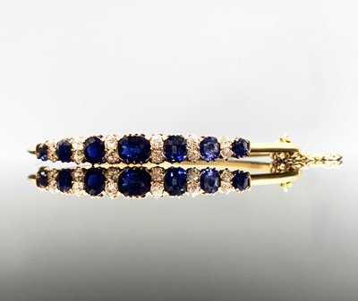 Lot 222 - A dazzling sapphire and diamond early 20th...