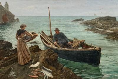Lot 181 - Charles Napier HEMY (1841-1917)The Fisherman's...
