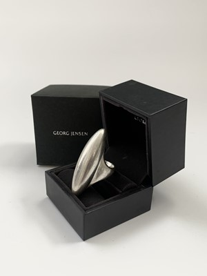 Lot 70 - Georg Jensen silver Aura ring, boxed