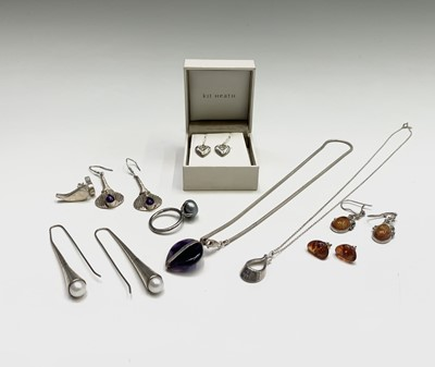 Lot 131 - Kit Heath earrings boxed together with a...