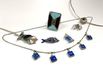Lot 1026 - Native American Indian/ Navajo jewellery...