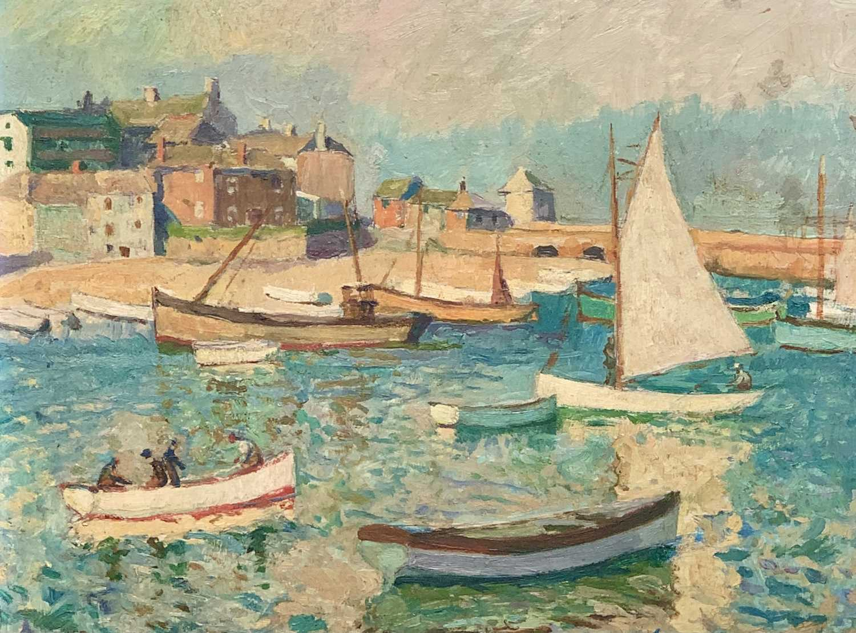 Lot 86 - John Anthony PARK (1880-1962) St Ives Harbour...