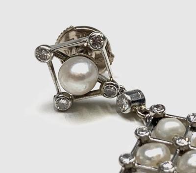Lot 34 - A pair of exquisite Belle Epoch platinum...