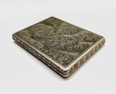Lot 1059 - A silver-gilt and enamel cigarette case 106gm...