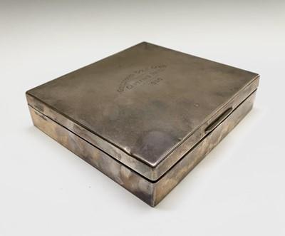 Lot 1004 - A Robert Comyns plain silver cigarette box...