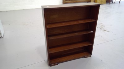Lot 4 - Herbet E Gibbs open bookshelf height 106.5cm...