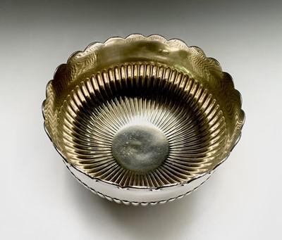 Lot 1043 - An impressive pedestal punch bowl, the...