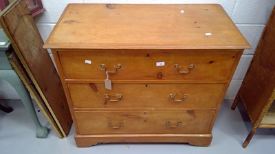 Lot 19 - early 20th century pine chest of drawers...