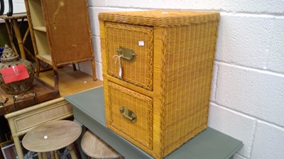 Lot 22 - Wicker weaved drawers Height 60cm Width 40cm...
