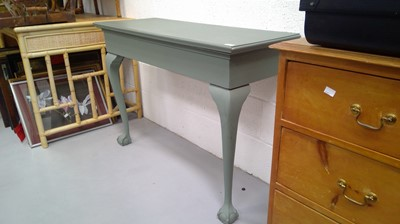 Lot 23 - pine painted console cabreole claw legs height...