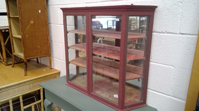 Lot 24 - Painted wall display unit height 75cm width...