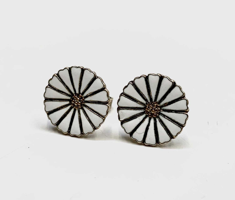 Lot 216 - A pair of Georg Jensen silver gilt 'Daisy'...
