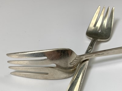 Lot 1034 - Two American silver forks marked Gorham...