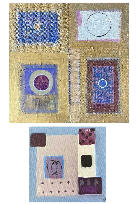 Lot 415 - Ray BARRY (1931) Textured Panels Mixed media...