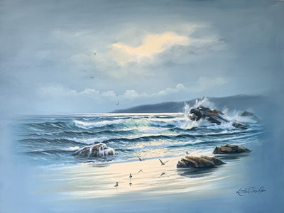 Lot 189 - Keith ENGLISH Gentle Waves Oil on canvas...