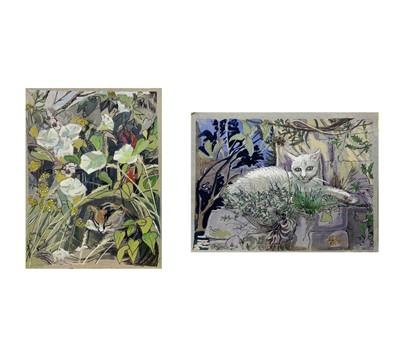 Lot 151 - Marion Grace HOCKEN Cats Two Watercolours