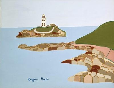 Lot 180 - Bryan PEARCE (1929-2006) Godrevy Lighthouse...