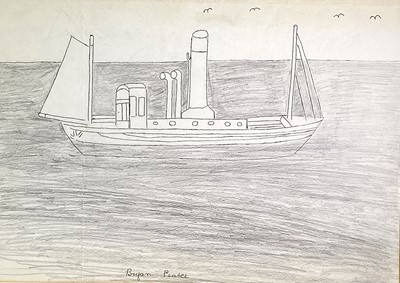Lot 184 - Bryan PEARCE (1929-2006) Steam Ship Pencil and...