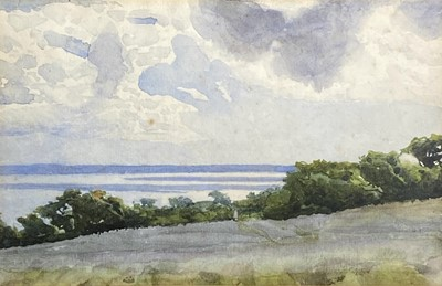 Lot 25 - Thomas Cooper GOTCH (1854-1931) Coastal Fields...