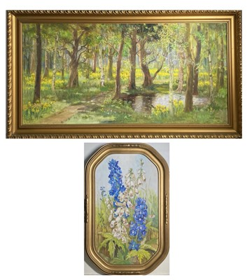 Lot 163 - Dorcie SYKES (1908-1998) A Spring Woodland...