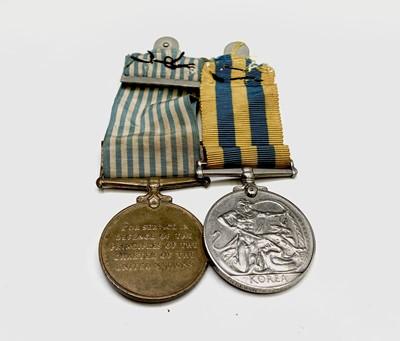 Lot 213 - Group of 2:- Korea Medal to 14194621 Gnr FC...