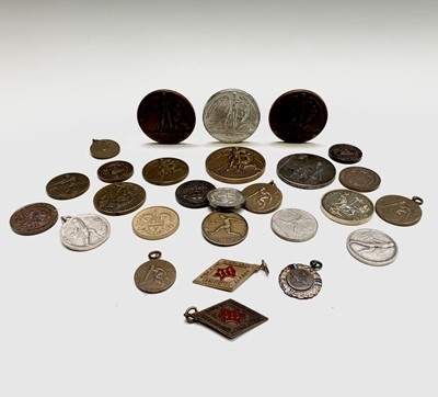 Lot 204 - Sports Prize Medals - Approx. 25 bronze and...