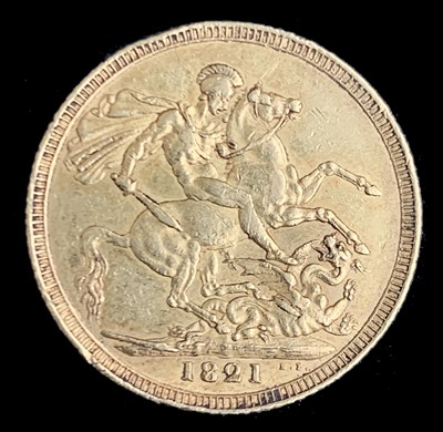 Lot 29 - G.B. George IV Gold Sovereign - A scarce 1821...