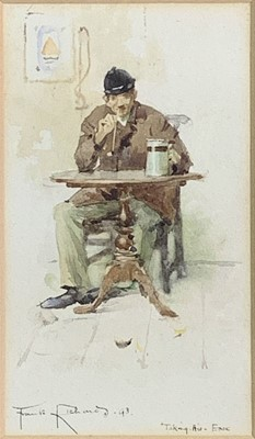Lot 112 - Frank RICHARDS (1863-1935) Taking His Ease...