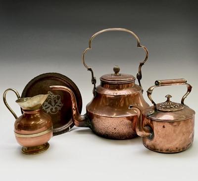 Lot 10 - A Hugh Wallis arts and crafts copper circular...
