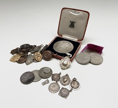 Lot 219 - 1937 Coronation Medallion, Silver & Other...