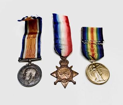 Lot 220 - World War I 1914-15 Medals Trio - The trio...