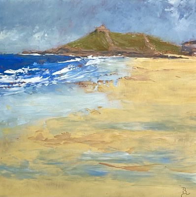 Lot 155 - David BEER (1943) Porthmeor Beach, St Ives...