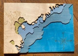 Lot 42 - James GODDARD Wooden Nautical Chart of...