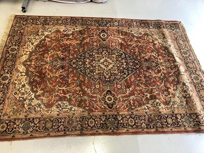 Lot 24 - A machine made rug of Kashan design. 275cm x...