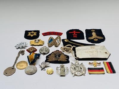 Lot 225 - Military Badges Etc - Lot comprises: A Hong...