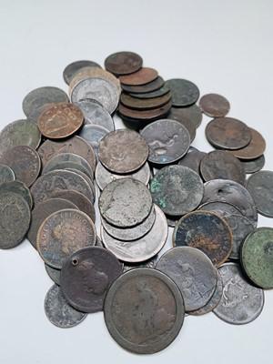 Lot 35 - Georgian Silver & Copper Coins - Lot comprises...