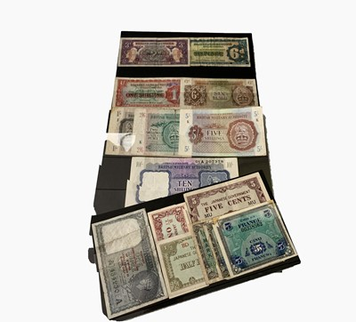 Lot 39 - Bank Notes: Military issues etc, 2nd World War...