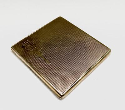 Lot 80 - A square 9ct gold cigarette case by Payton,...
