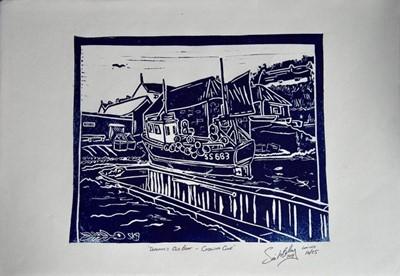 Lot 50 - Simon K BRADLEY A Trio of Linocuts Linocut...