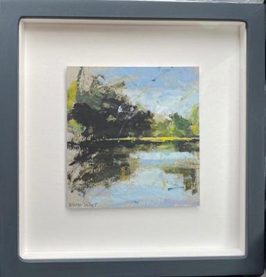 Lot 64 - Kieren STILES 'Windrush' 12.2 x 12.9 cm Oil on...