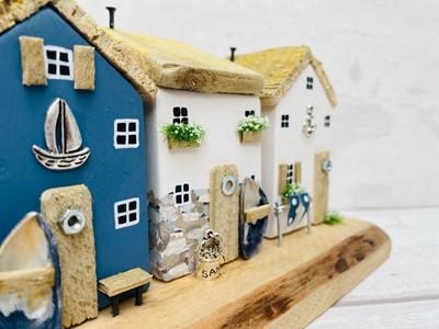 Lot 66 - The Sea Salt Shed 'Marine Row'Mixed Media /...