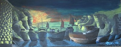 Lot 71 - Martin ELLISCadgwith CoveAcrylic on board41cm...