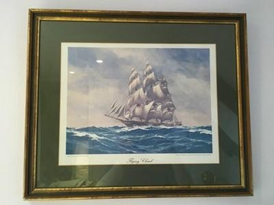 Lot 74 - Eight Historic Sailing Ship Prints The history...