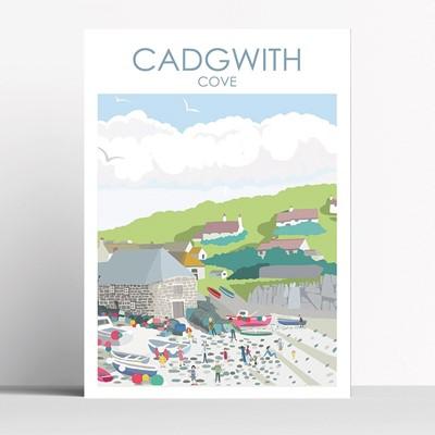Lot 69 - A Betty Boyns print Cadgwith Cove Framed A3 print