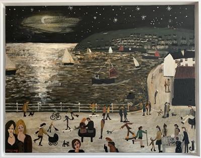 Lot 23 - Alan FURNEAUX (1953) Two Newlyn Girls Oil on...